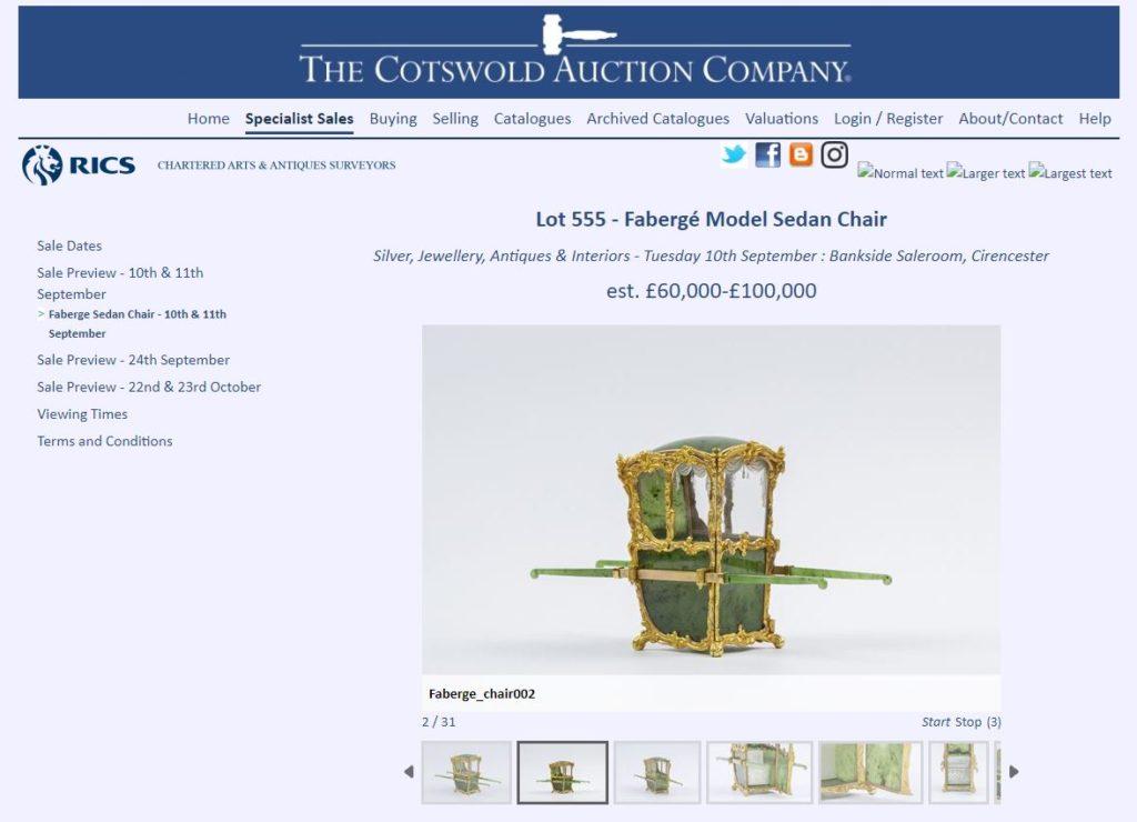 Fabergé Sedan Chair
