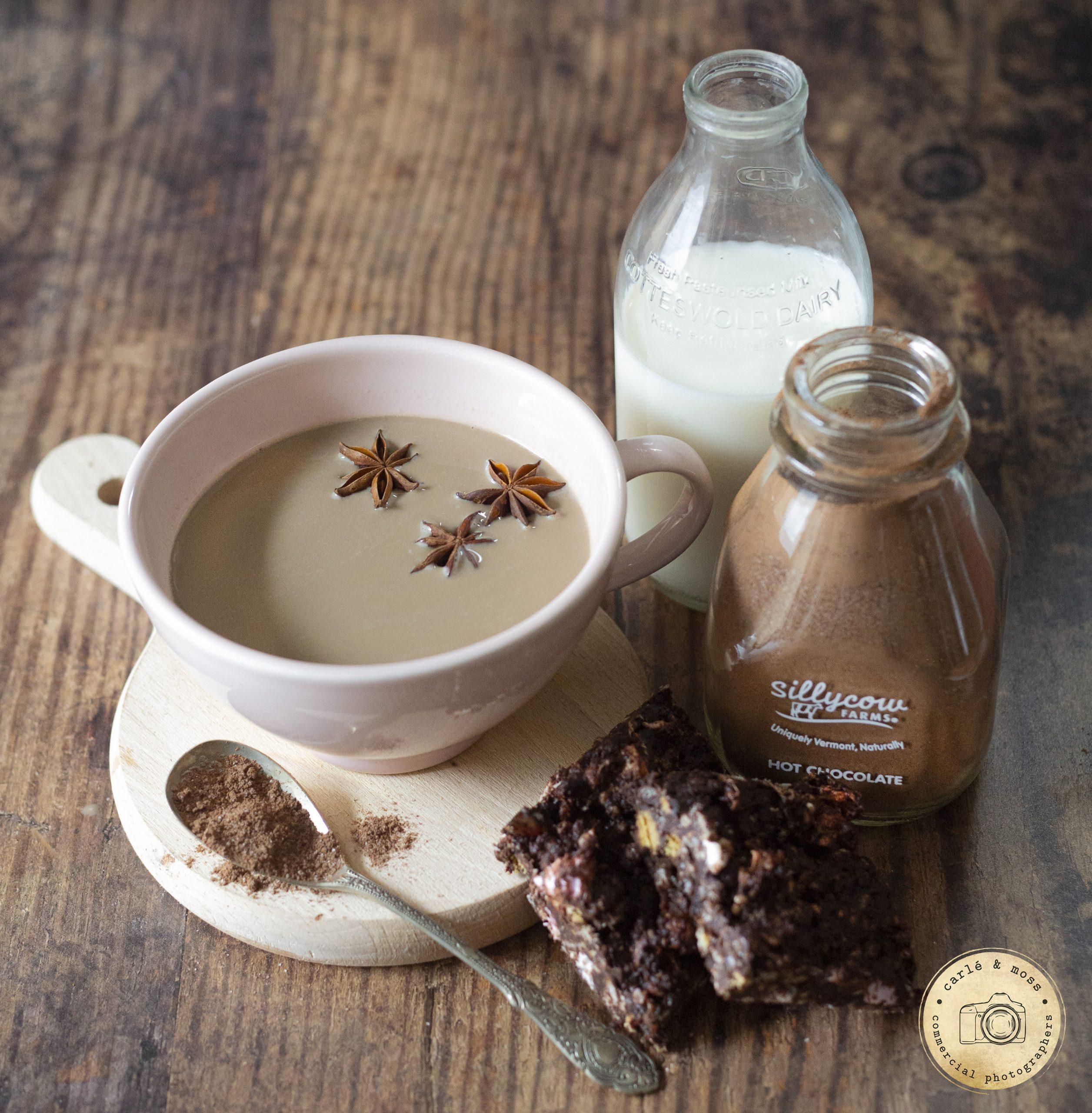 Hot chocolate food photography